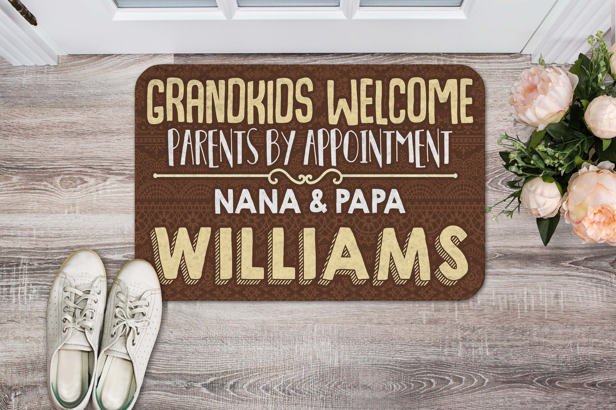 Personalized Grandkids Welcome - Parents by Appointment Door Mat