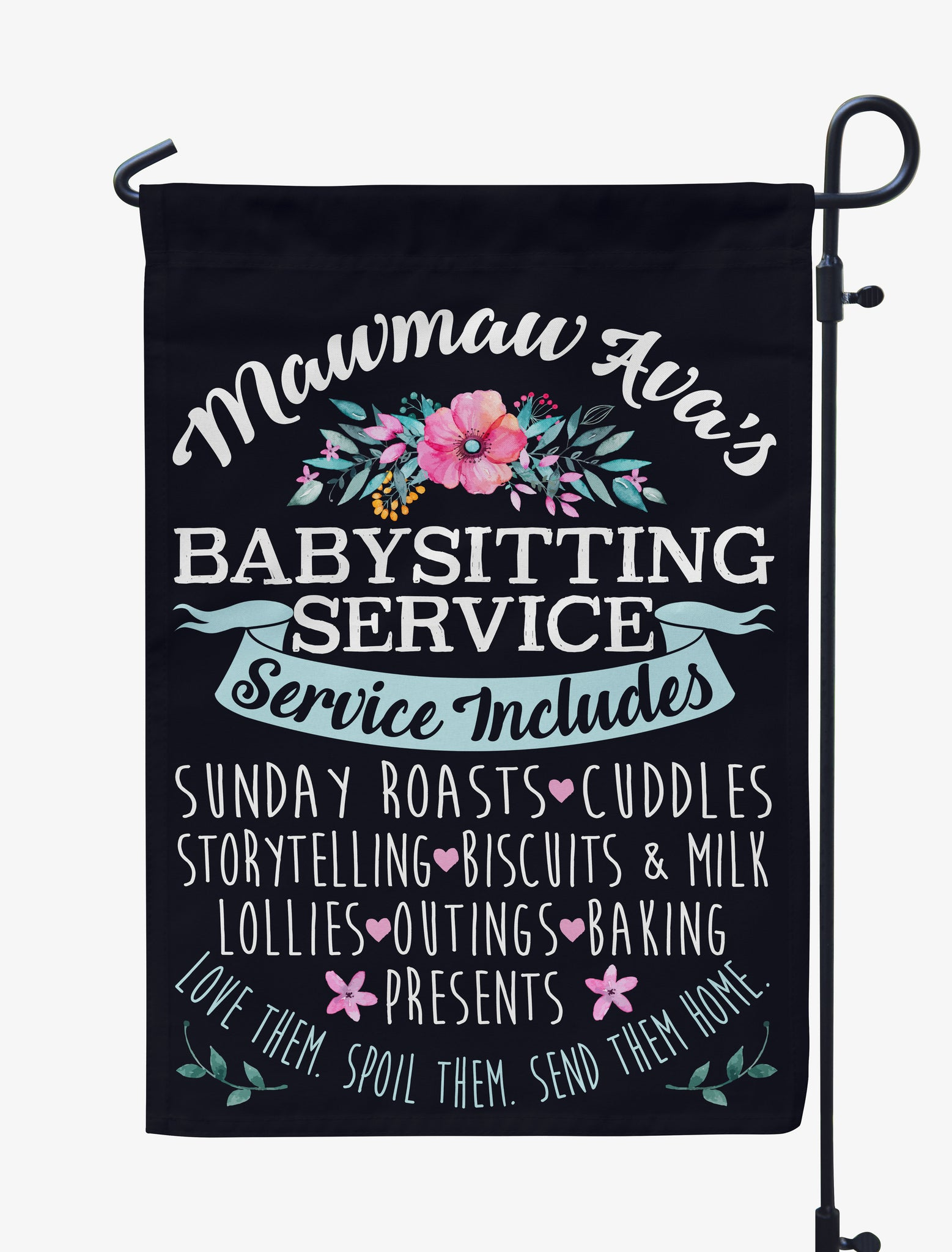 Personalized Baby-Sitting Services Flag
