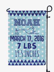 Personalized Baby Announcement Flag