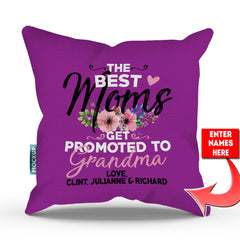 Personalized Best Moms Get Promoted To Throw Pillow Cover - 18