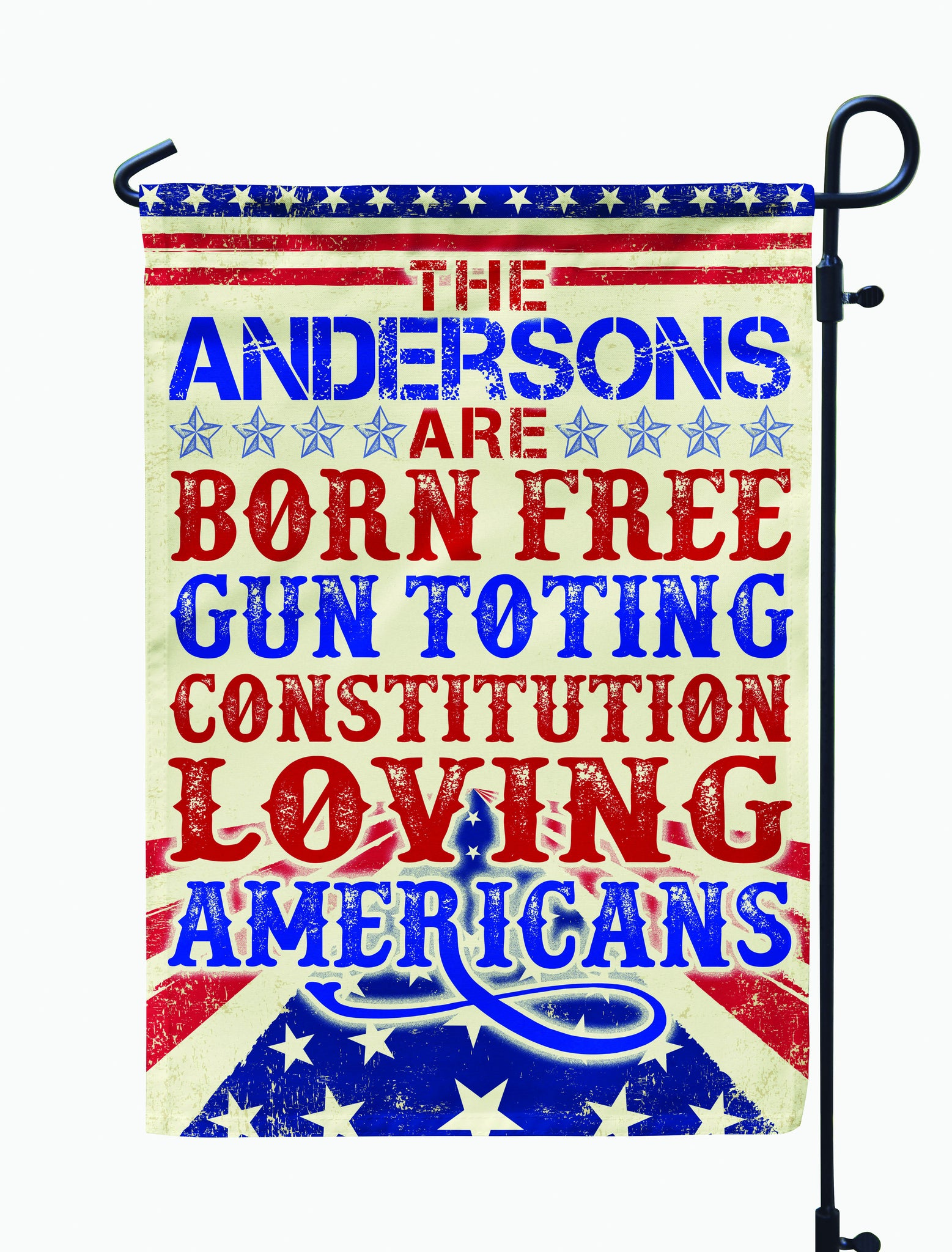 Personalized Born Free Americans Flag