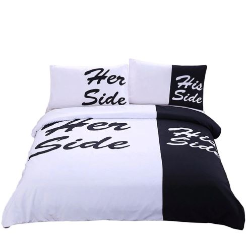 Her Side His Side Duvet Cover