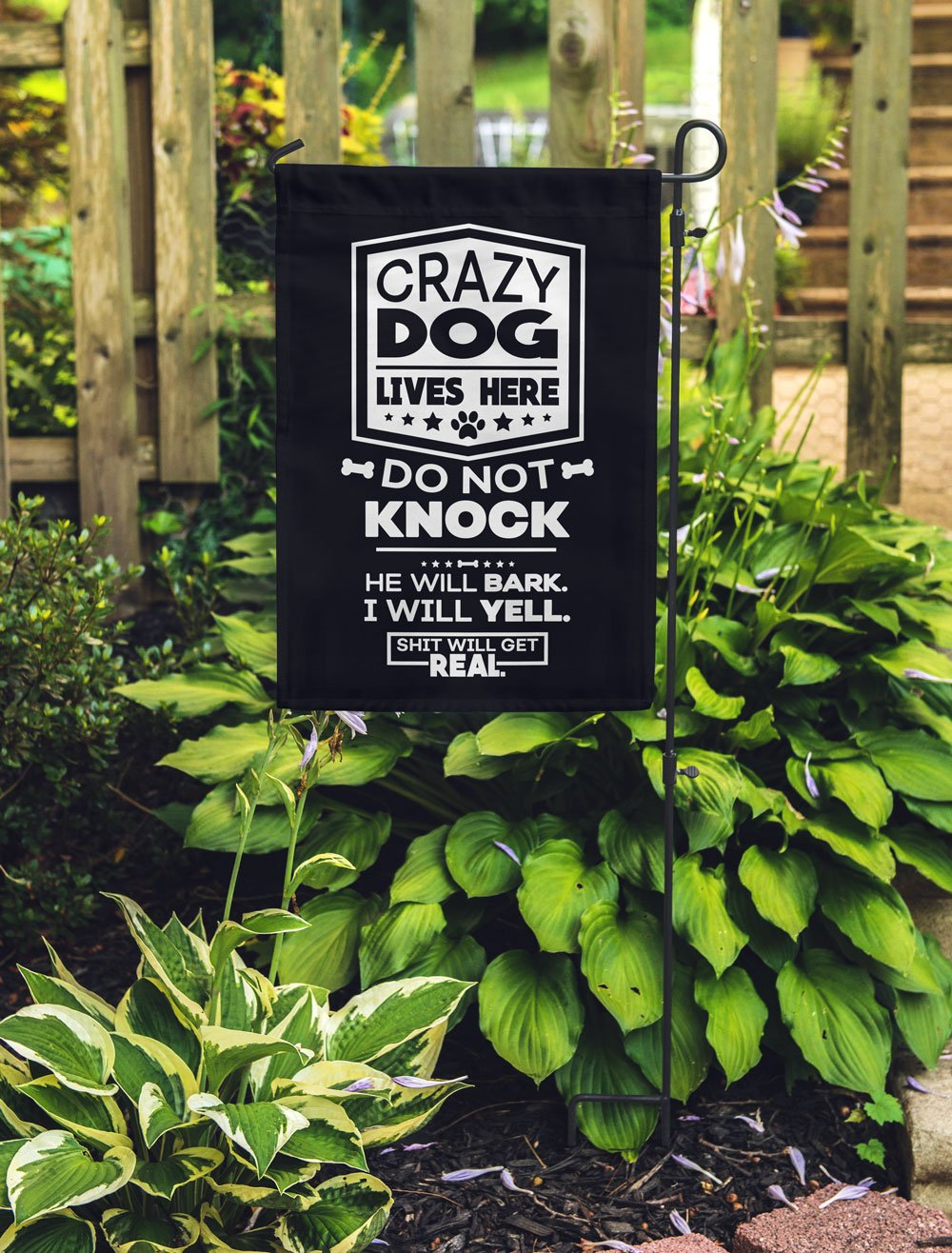 Crazy Dogs - Shit Will Get Real Flag