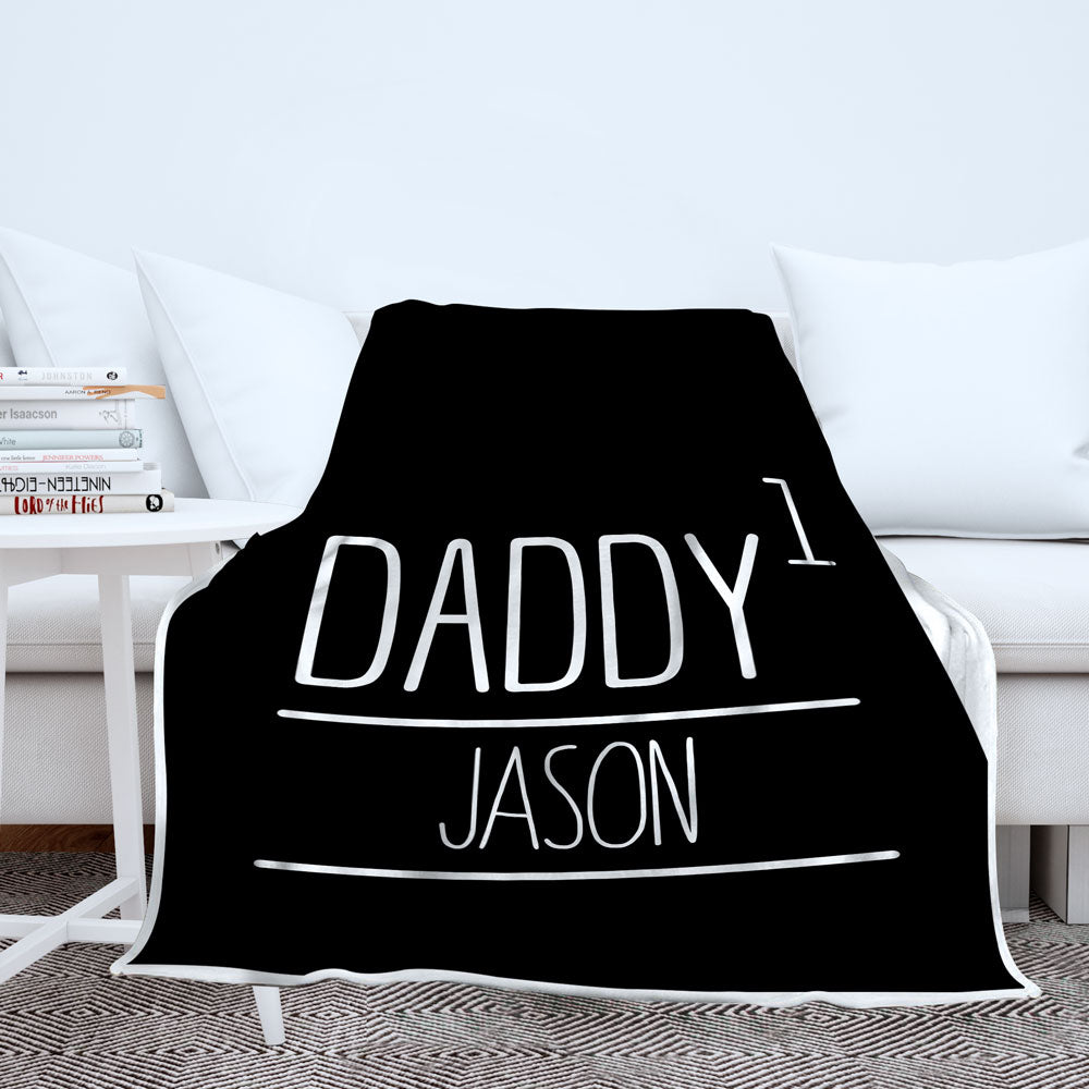Personalized Daddy Raised Blanket