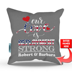 Personalized Deployment Strong Throw Pillow Cover - 18