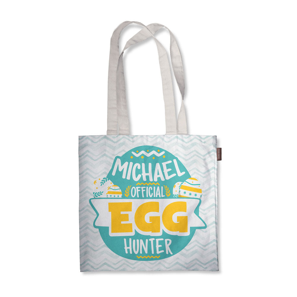 Personalized Egg Hunting Tote Bag