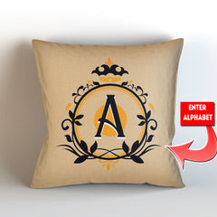 Personalized Alphabet Themed Throw Pillow Cover - 18