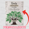 Personalized Family Like Branches Blanket