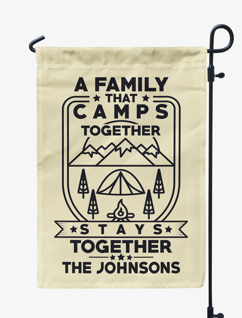 Personalized A Family That Camps Together Flag