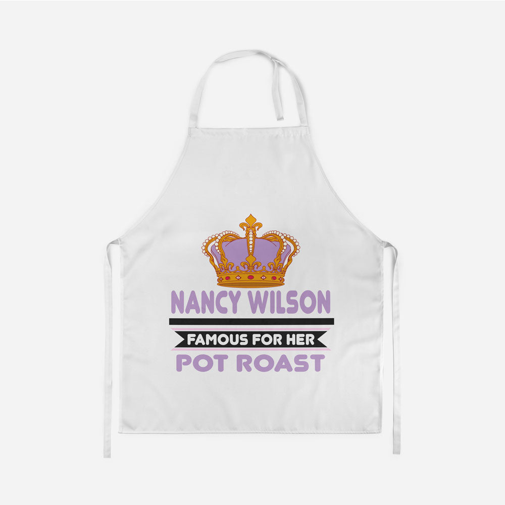 Personalized Famous For Her Apron