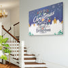 Personalized First Christmas As Mr and Mrs Wall Art Canvas