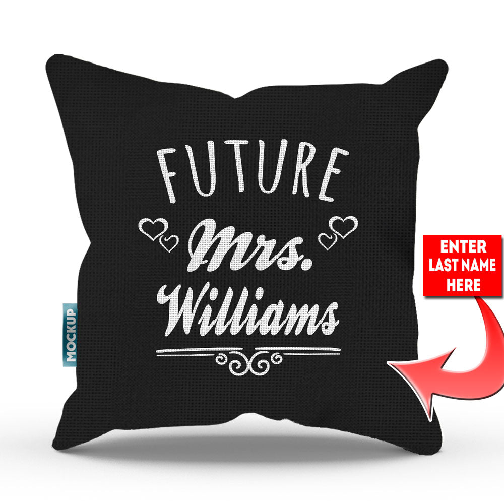 Personalized Future Mrs Pillow Cover
