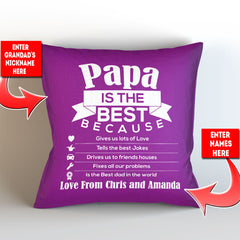 Personalized Grandad is The Best Pillow Cover - 18