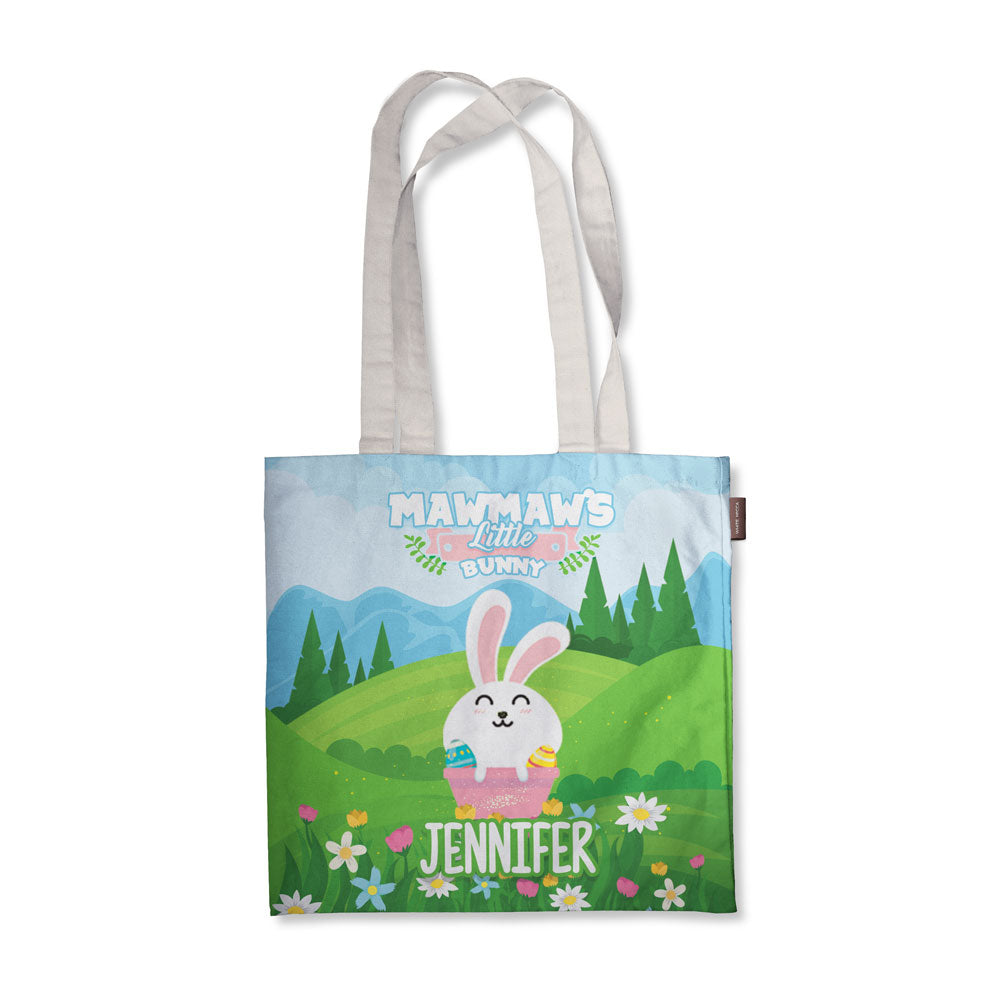 Personalized Grandma Bunnies Tote Bag