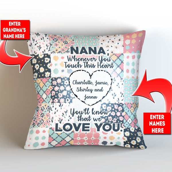 Personalized Grandma Whenever You Touch This Throw Pillow