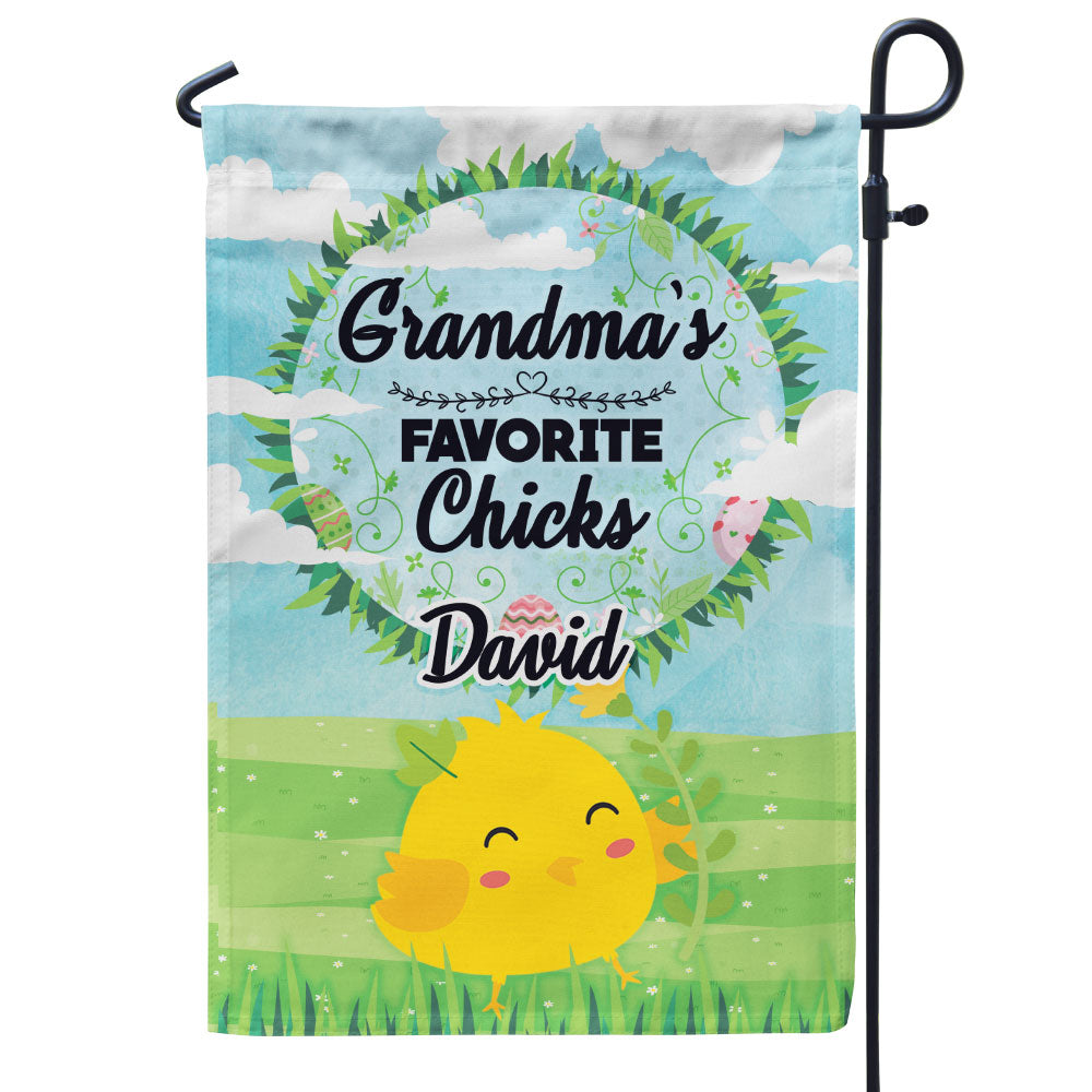 Personalized Grandma's Favorite Chicks Flag