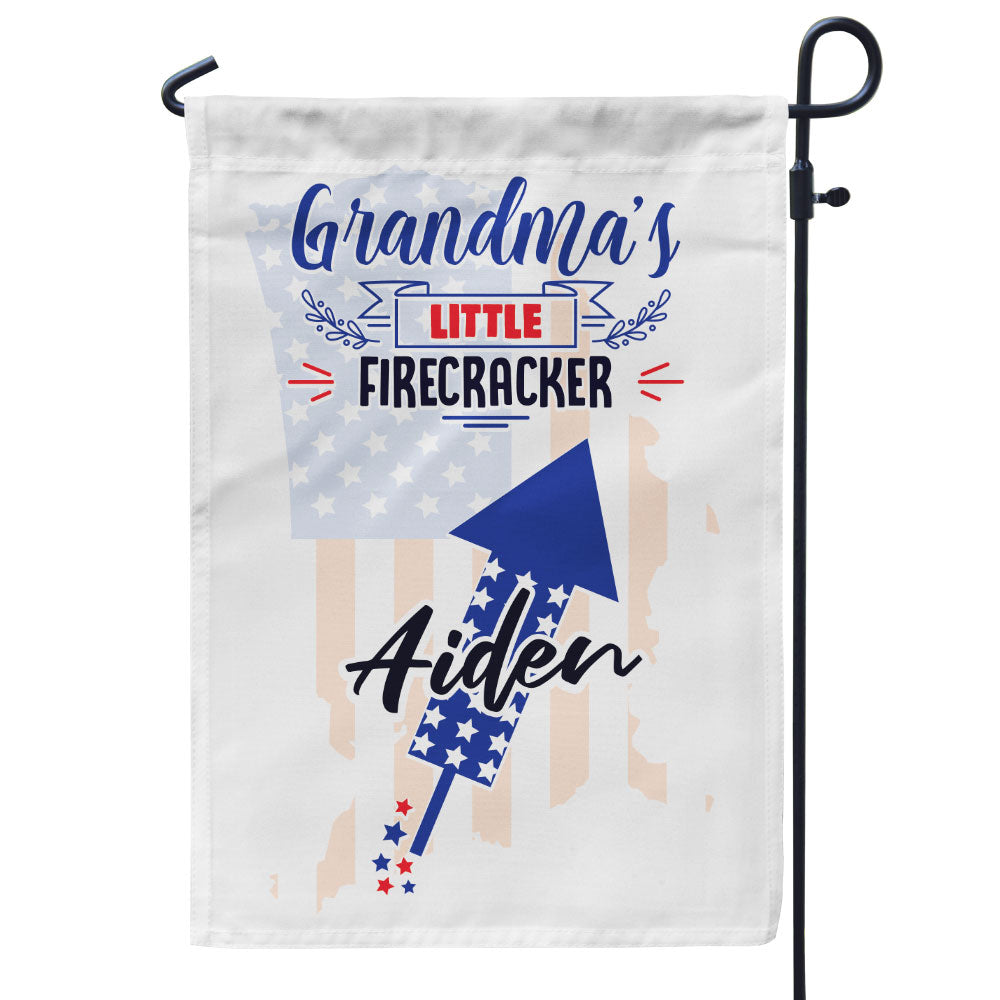 Personalized Grandma's Little Firecrackers Flag