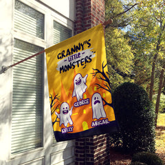 Personalized Grandma's Monsters Halloween Flag