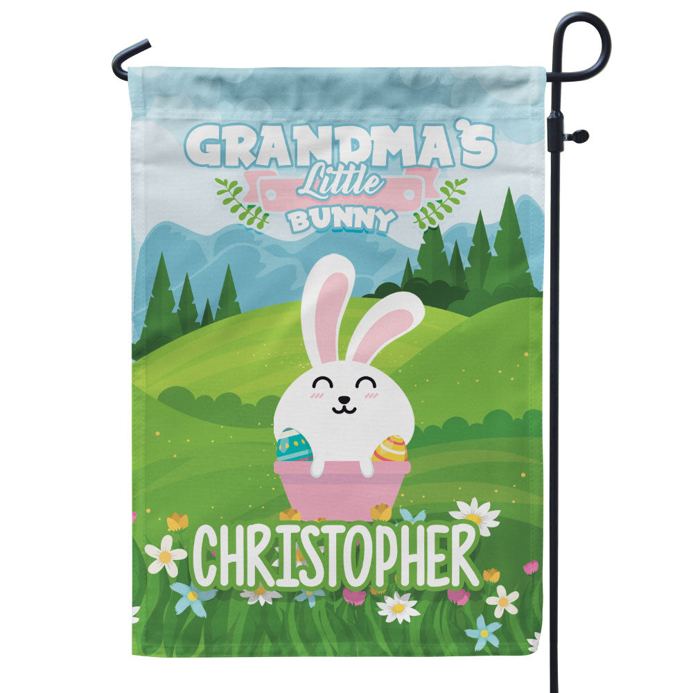 Personalized Grandma's Bunnies Flag