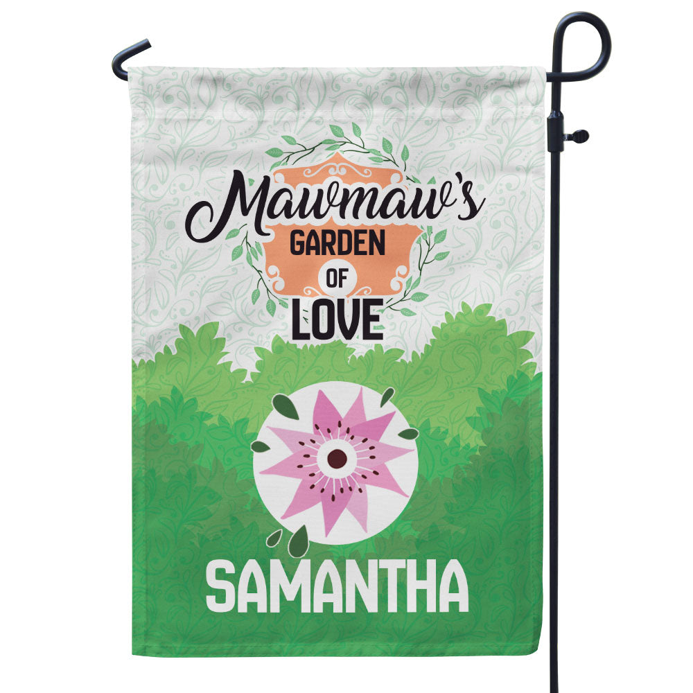 Personalized Grandma's Garden Of Love Flag