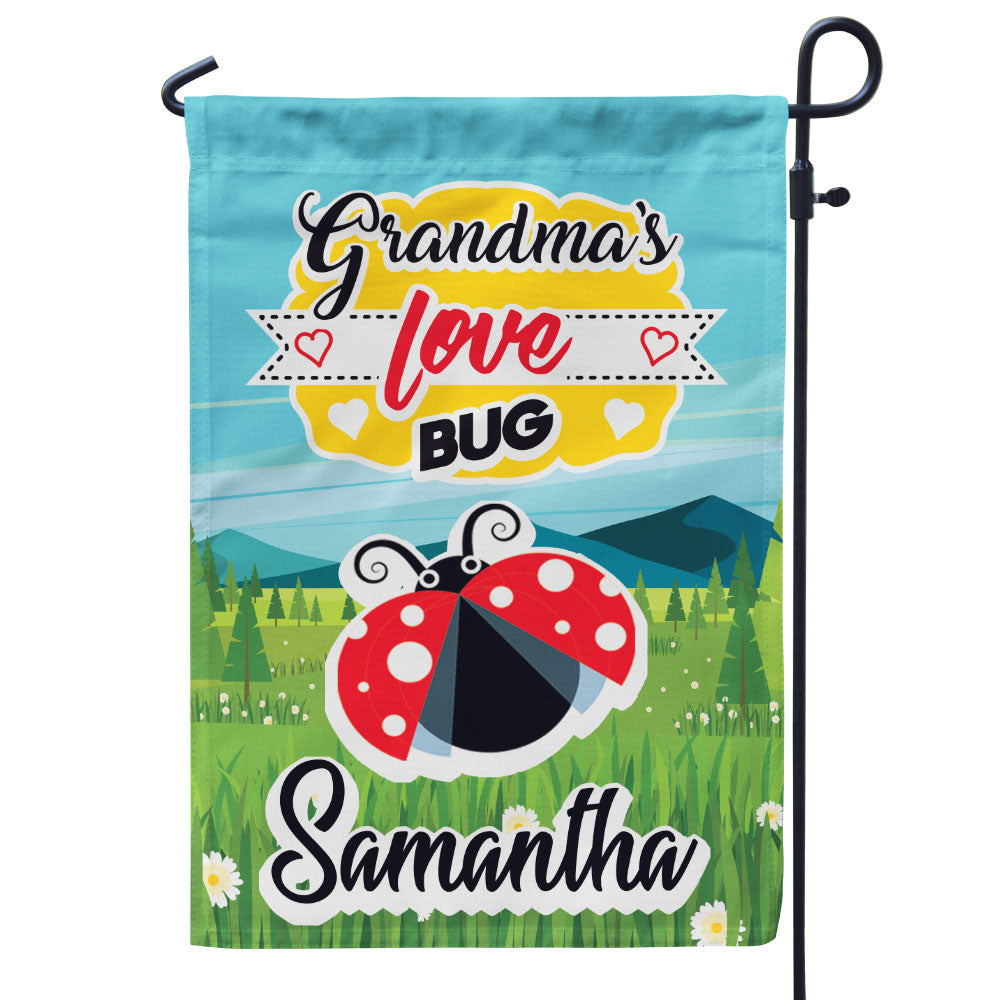 Personalized Grandma's Love Bugs Flag
