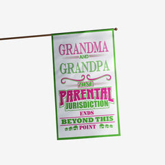 Personalized Grandparents Zone Flag