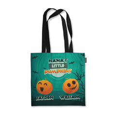 Personalized Grandma's Pumpkins Halloween Tote Bag