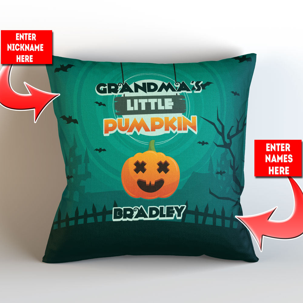 Personalized Grandma's Pumpkins Halloween Pillow Cover