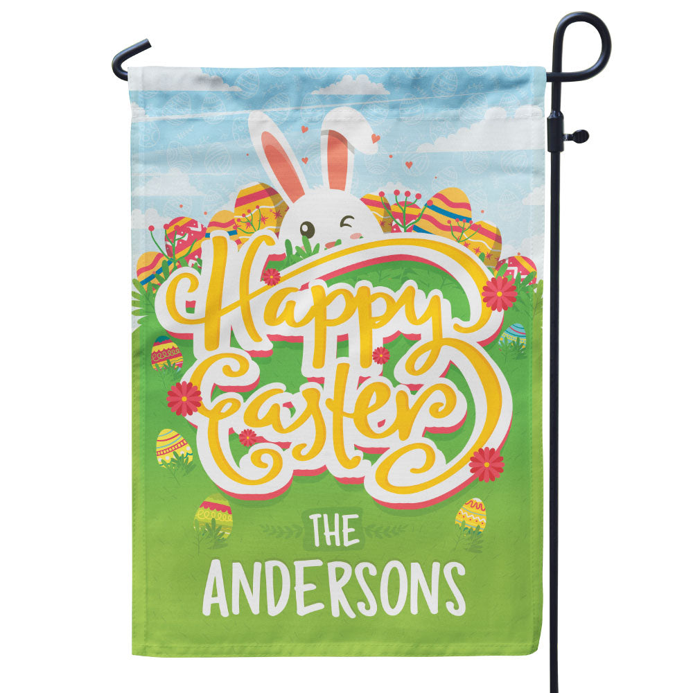 Personalized Happy Easter Flag