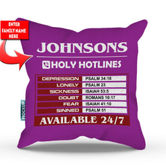 Personalized Holy Hotlines Throw Pillow Cover - 18