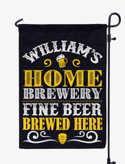 Personalized Home Brewery Flag