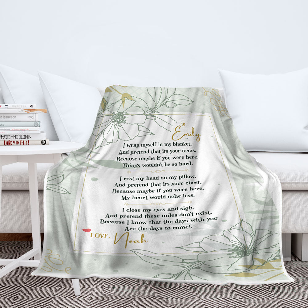 Personalized Wrap Myself Blanket