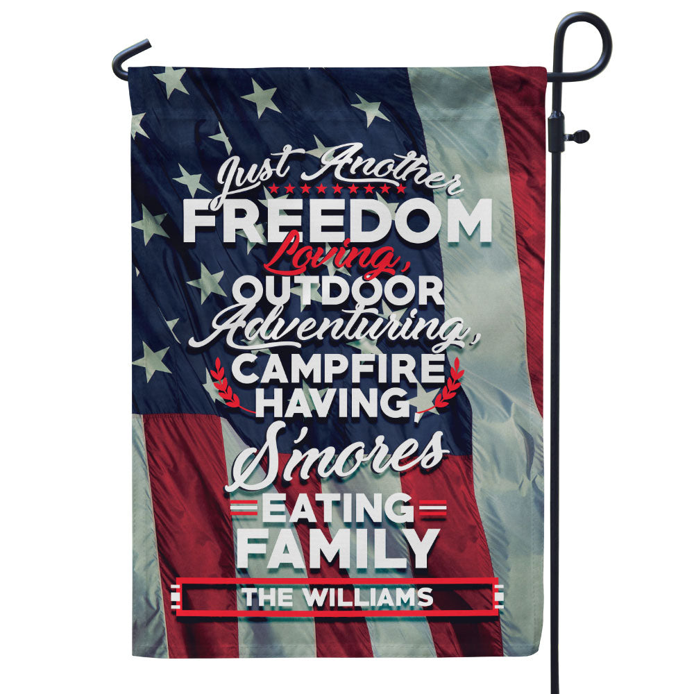Personalized Just Another Freedom Loving Flag