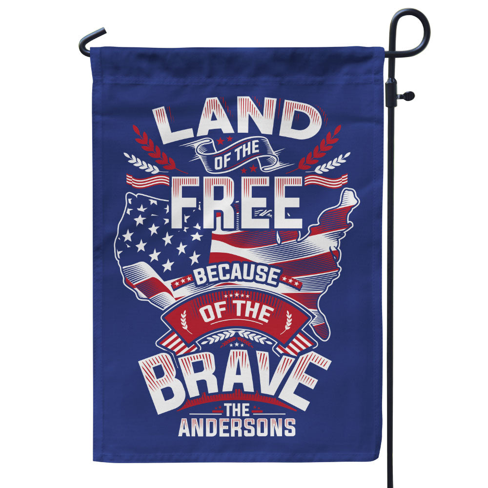 Personalized Land Of The Free Because Of The Brave Flag