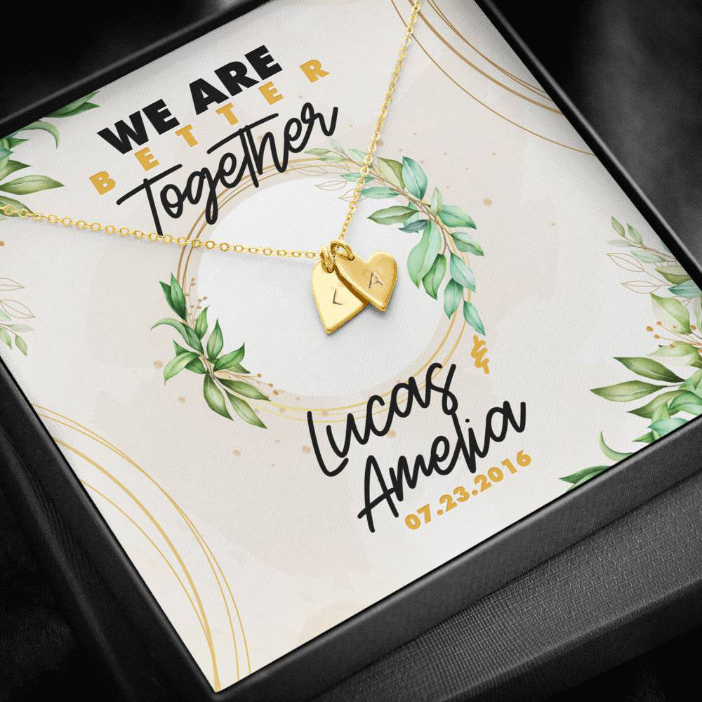 Personalized We Are Better Together Sweetest Hearts Necklace