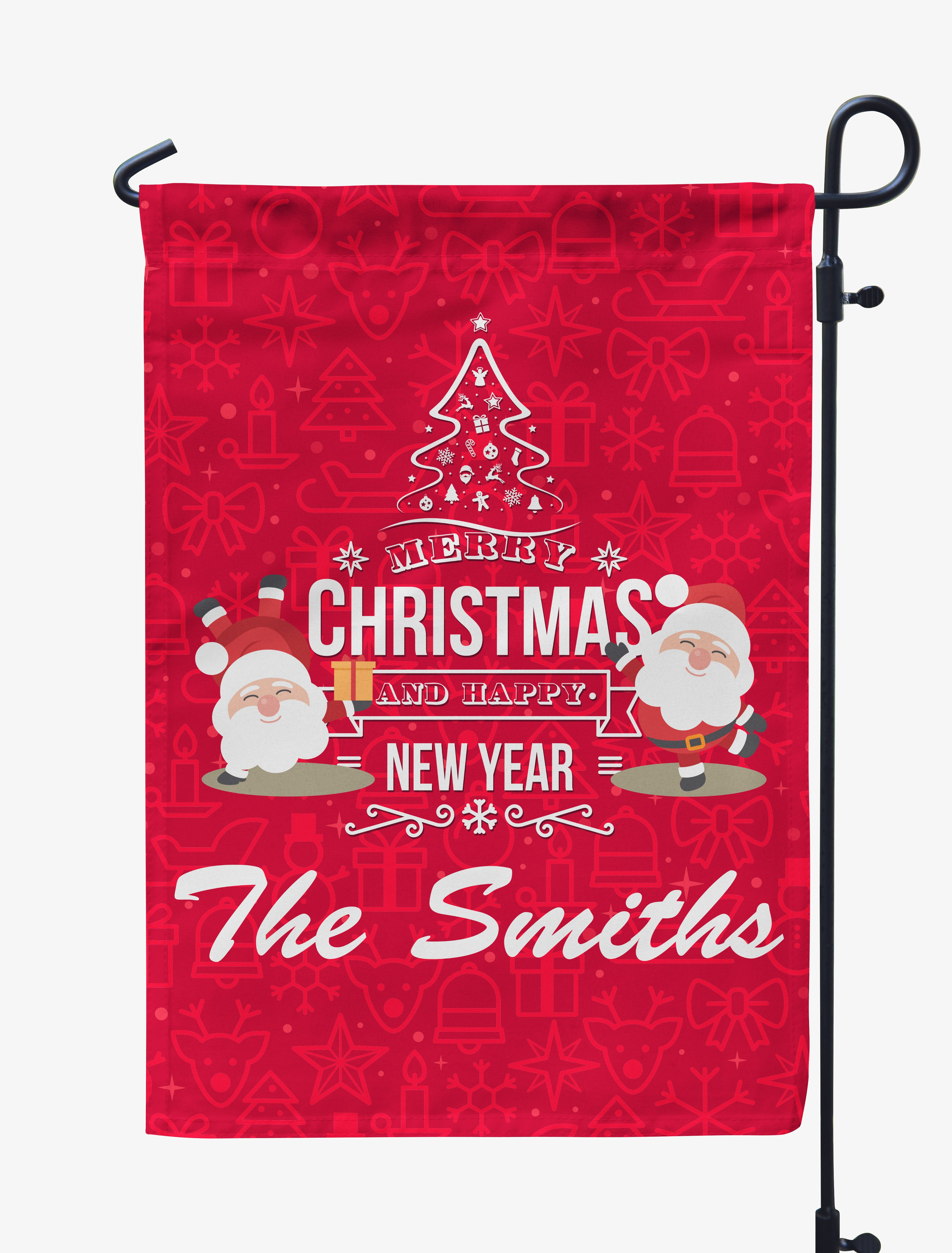 personalized merry christmas happy new year flag mostly pillows