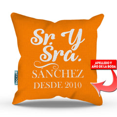 Personalized Mr & Mrs - Spanish Throw Pillow Cover - 18