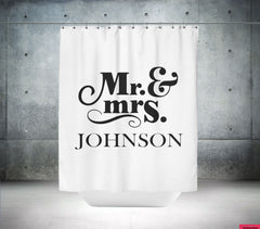 Personalized Mr and Mrs Shower Curtain