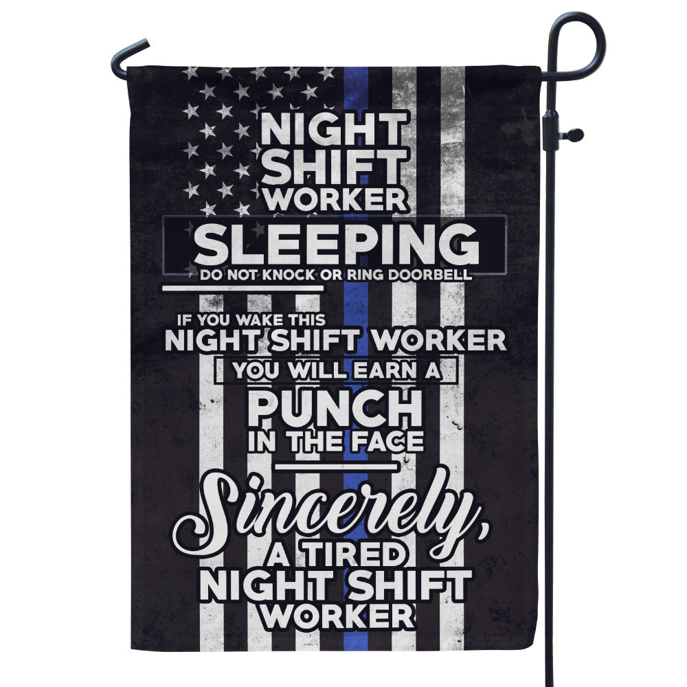 Night Shift Worker Sleeping Flag