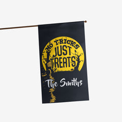 Personalized No Tricks Just Treats Flag