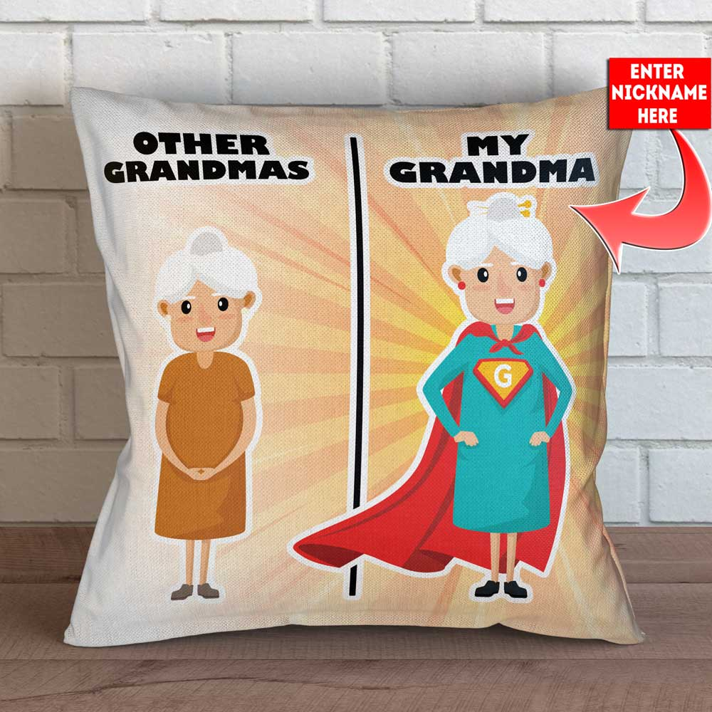 "Personalized Other Grandmas vs You Throw Pillow Cover - 18"" x 18"""