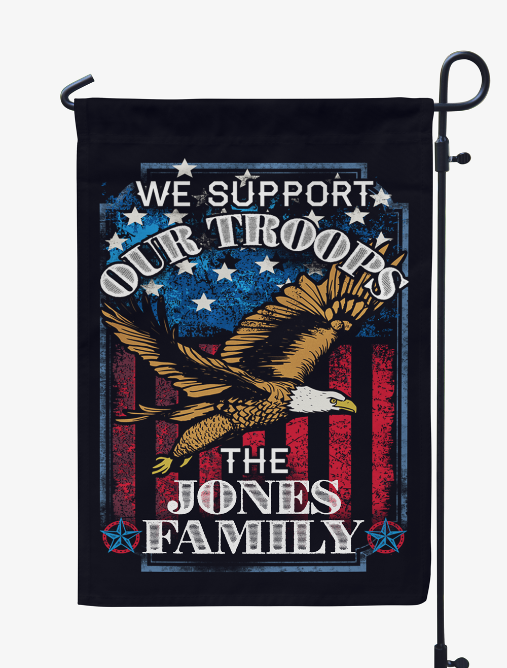 Personalized We Support our Troops Flag
