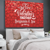 Personalized Our First Valentine's Together Wall Art Canvas