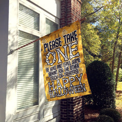 Please Take One – Happy Halloween Flag