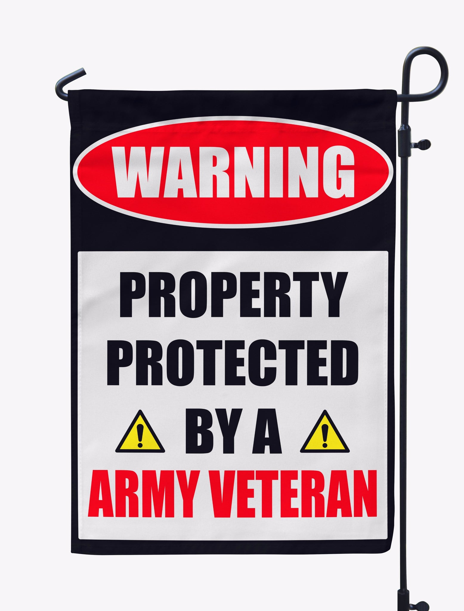 Personalized Property Protected By A Vet Flag