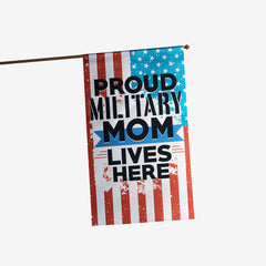Military Mom Lives Here Flag