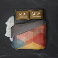 Personalized Mr and Mrs Bed Pillow Cover Set – Style 2