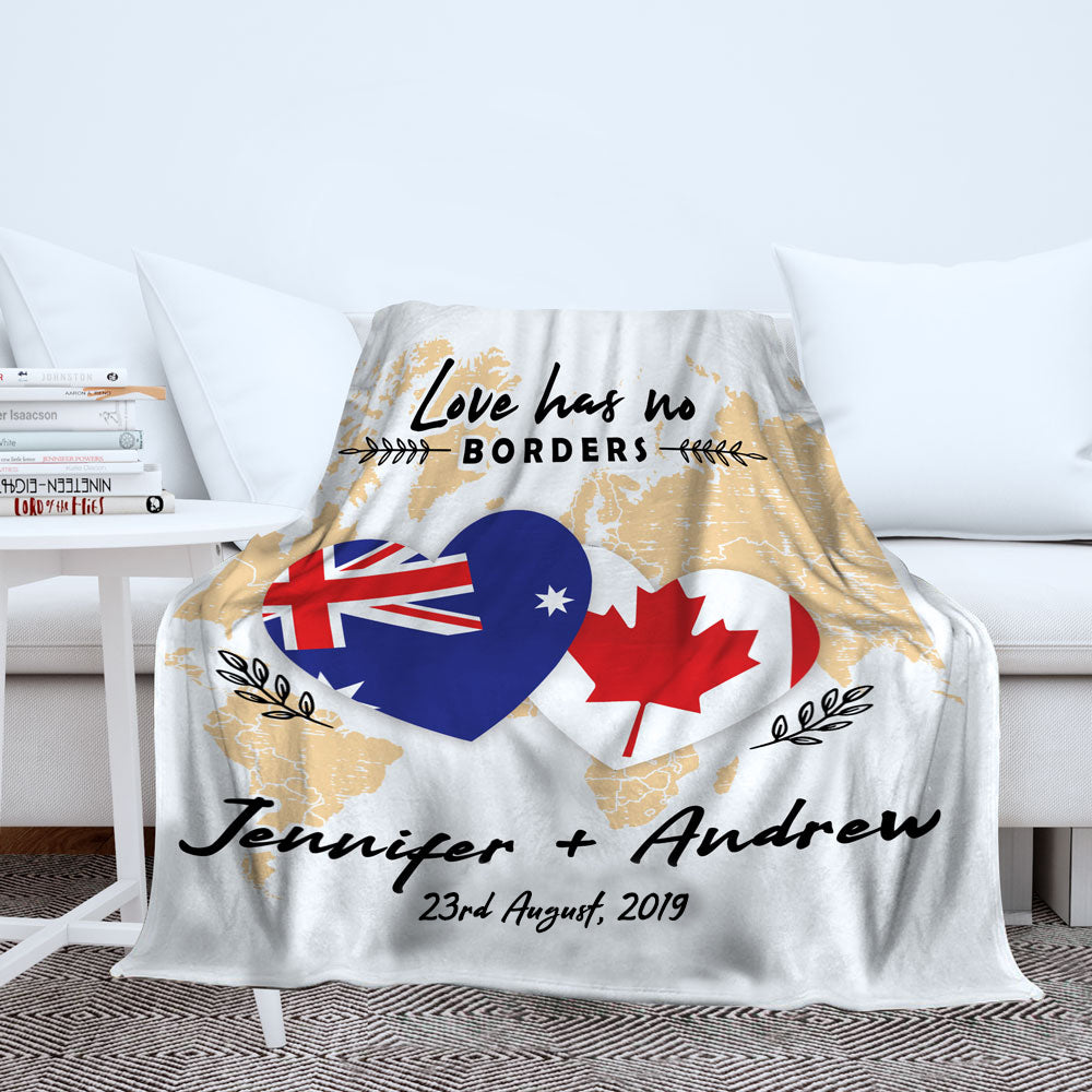 Personalized Love Has No Borders Blanket