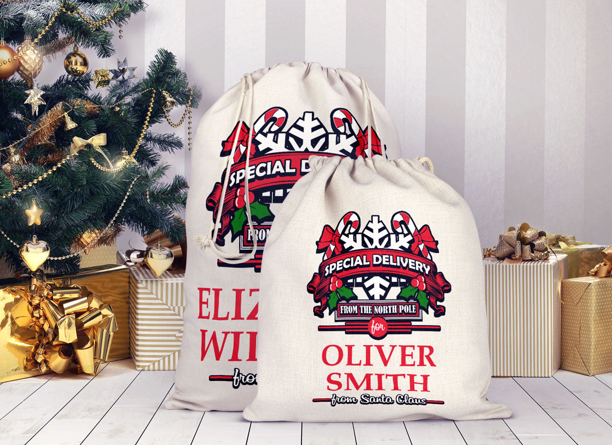 Personalized Christmas Special Delivery Sack Bag