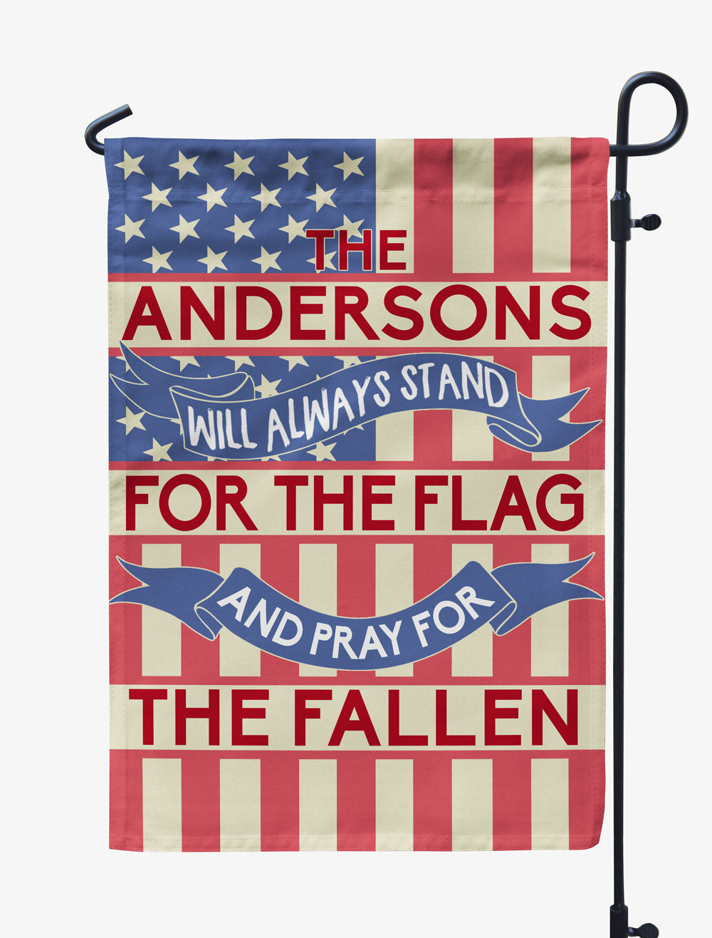 Personalized Will Always Stand for the Flag